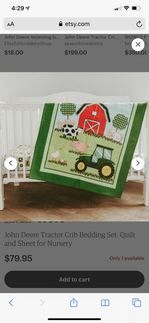 John Deere crib set for Sale in San Carlos, AZ