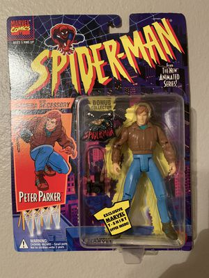 Marvel Spider-Man Animated Series (1995) Peter Parker Toy Biz Figure NIP for Sale in Stockton, CA
