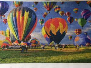 2 hot air balloon puzzle posters. One small and one big for Sale in Orange, TX