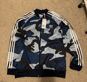 Adidas boys jacket camo track top size L for Sale in Melbourne, FL
