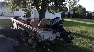 Bass boat trailer and 40hp mercury motor for Sale in Streator, IL