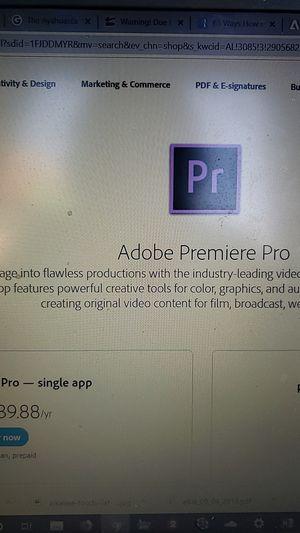 Adobe Premier CC Pro 2019 for Sale in Costa Mesa, CA