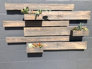 Wood Succulent Wall Planter for Sale in Pomona, CA