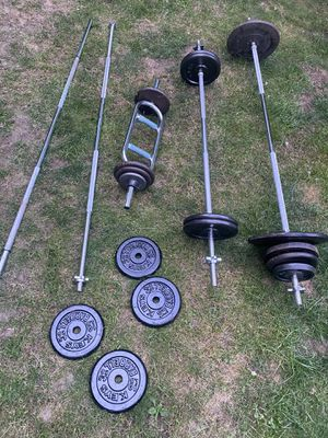 """1"""" Standard Barbells with Weight - read description for Sale in Snohomish, WA"""