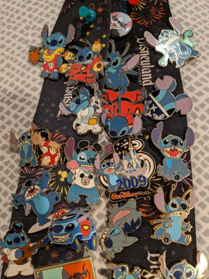 Lot of stitch pins -all official Disney pins for Sale in University Place, WA