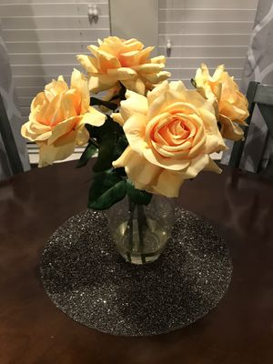 Yellow artificial Flower arrangement for Sale in Houston, TX
