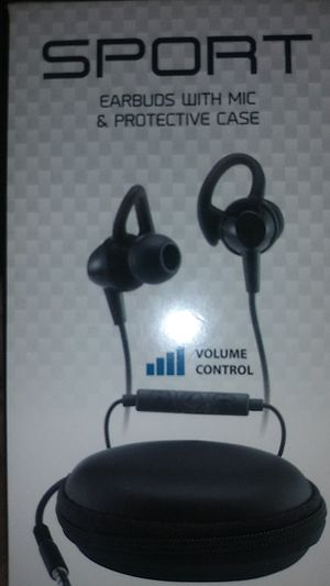 Earbuds (Mic & protective case included) for Sale in Modesto, CA