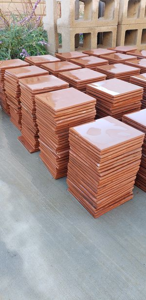 ***MUST GO TODAY *** 595 pieces / 150ft² of beautiful Red 6in X 6in Quarry wall and floor tiles for Sale in Montclair, CA