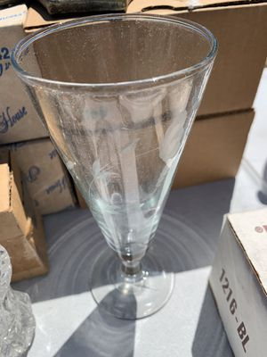 Crystal Glasses (Two sets of 4) for Sale in Hemet, CA