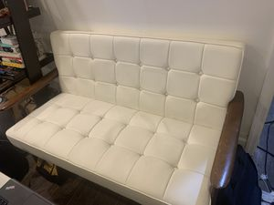 White leather couch for Sale in Queens, NY