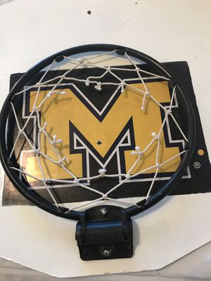 Mini basketball hoop Michigan blue college skillz small basket for Sale in Scottsdale, AZ