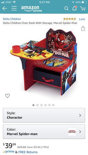 Spider man kids study desk chair with storage for Sale in MONTE VISTA, CA