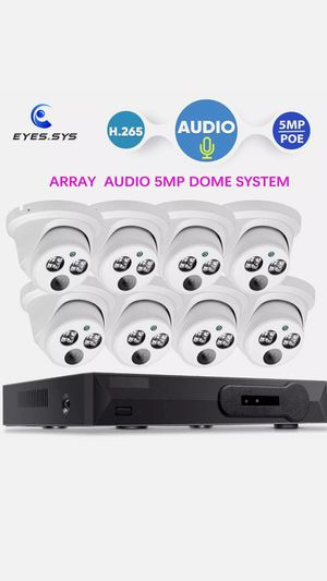 Security cameras 2k w Microphone , NVR 2 TB installation included for Sale in Kissimmee, FL