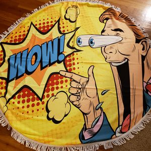 Round beach towel Summer 2019 cartoon for Sale in Temple City, CA