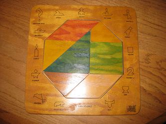 Easy Pieces Wooden Tangram Puzzle for Sale in Traverse City,  MI