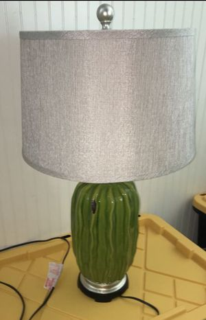 Large green ceramic table top lamp excellent condition high-quality for Sale in El Cajon, CA
