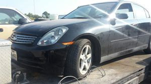 2003 INFINITI G35. BODY PARTS USED GOOD CONDITION for Sale in Dallas, TX