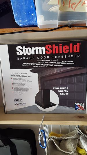 Storm Shield Garage Door Threshold 20 Feet 2 Car for Sale in Germantown, MD
