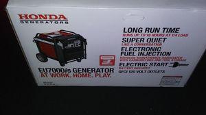 Honda EU7000is inverter generator BRAND NEW IN BOX for Sale in Saint Paul, MN