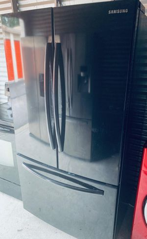 Black Samsung French 3 Door Refrigerator-PRICE IS FIRM for Sale in Lilburn, GA