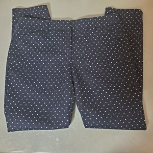 Dalia heart print navy blue pants size 6 for Sale in Fort Myers, FL