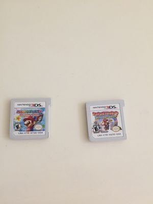 Mario party and paper Mario for the 3ds for Sale in Redlands, CA