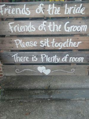 Wedding sign 4 ft by 4 ft for Sale in Kodak, TN