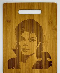 Michael Jackson laser engraved bamboo high quality cuttingboard pop gift for Sale in Los Angeles,  CA