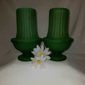 Vintage Glass, Frosted Green Glass Fairy Lamps for Sale in Mesa, AZ