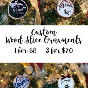 Custom Wood Slice Ornaments for Sale in Covina, CA