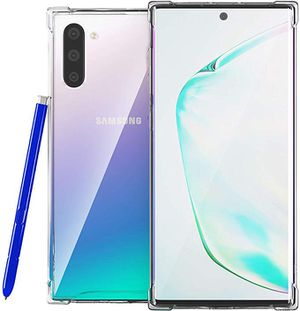 Galaxy Note 10 Clear Case Samsung Galaxy Note 10 Case Clear, Soft Sides Hard Back Protective Bumpers Slim Crystal Silicone Gel Rubber TPU Phone Armor for Sale in Industry, CA