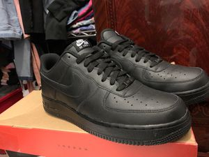 Air Force ones. New size 11.5 Blk/Blk for Sale in Dearborn Heights, MI