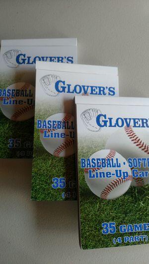 Baseball / Softball line up cards 4part for Sale in Manassas, VA