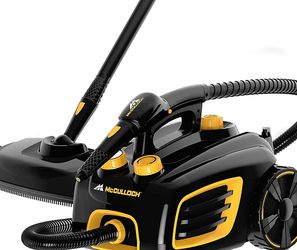 McCulloch MC1375 Canister Steam Cleaner with 20 Accessories, Extra-Long Power Cord, Chemical-Free Cleaning for Most Floors, Counters, Appliances, Wind for Sale in Grand Haven,  MI