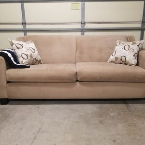 Cream, Tan, Brown Sofa, Loveseat, Couch for Sale in Placentia, CA