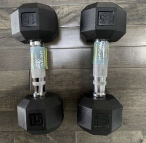 Two 15lb dumbbells for Sale in San Diego, CA