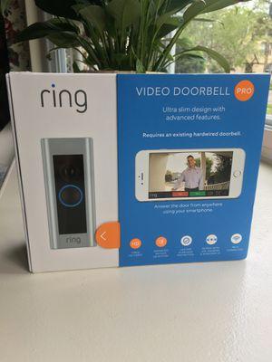 Ring Doorbell Pro - Brand New (150 OBO) for Sale in BVL, FL