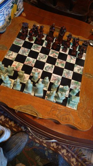 Antique jade chinese chess set for Sale in Suffolk, VA