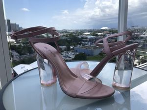 Heels with transparent Stiletto size 7 for Sale in Miami, FL