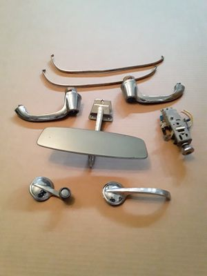 1953 / 1954 Chevrolet Bel Air 50's Chevy Mirror, Door Handles, Pedals, Headlight Switch for Sale in Victorville, CA
