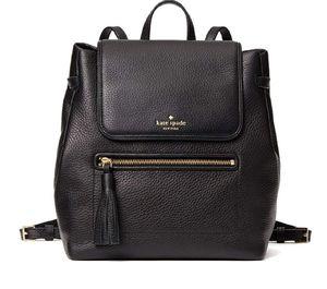 Kate spade backpack -all black genuine Leather for Sale in Auburn, WA