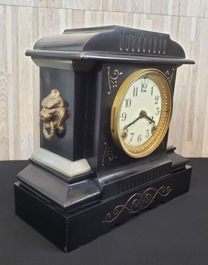 ANSONIA Black Enamel Antique Mantle Clock, circa 1910/1915 for Sale in White Plains, NY