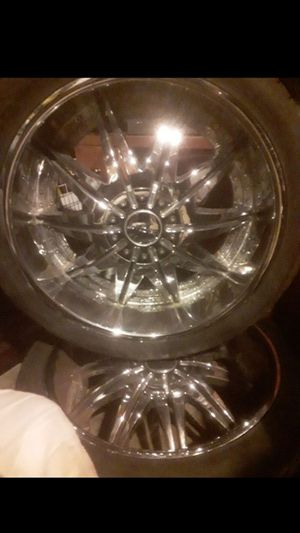 24 inch rims and tires for Sale in Woodburn, OR