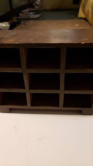 Brown small hand carved shelf for Sale in Everett, WA