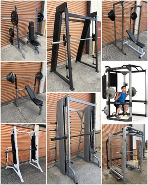 Olympic Weight Benches, Cages, Power / Squat Racks, Dumbbells, Plates, Leg Press for Sale in Davenport, FL
