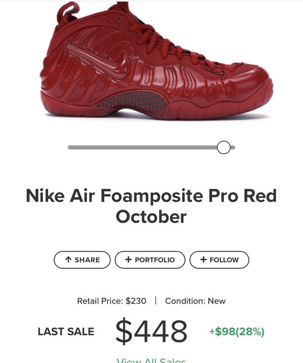 Red October foamposites size 8.5