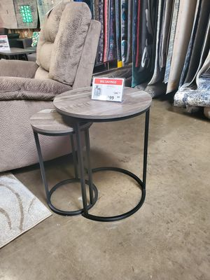 2 PC End Table Set, Grey/Black for Sale in Tustin, CA
