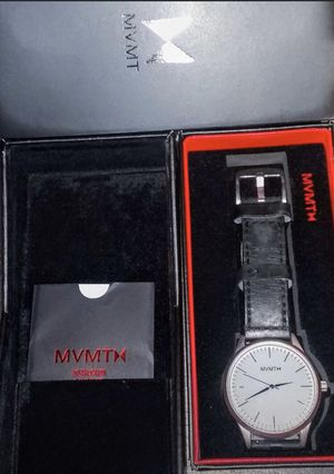 MVMT 40 Series Silver/Black Men's Watch Black Interchangable Leather Band for Sale in Rockville, MD