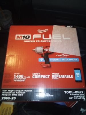 """Milwaukee m18 Fuel 1/2"""" impact wrench with ONE KEY for Sale in March Air Reserve Base, CA"""