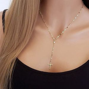 Gold Silver Color Clavicle Chain Cross Pendant Clavicle Necklace For Women for Sale in Brooklyn, NY